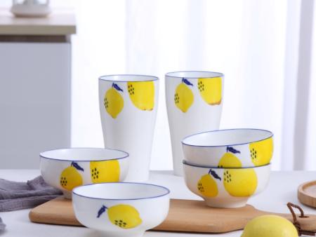 快乐柠檬 手绘餐具组合