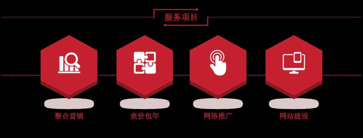 服务项目:整合营销  竞价包年  网络推广  网站建设