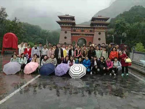 公司組織洛陽龍潭大峽谷游玩圓滿結束!