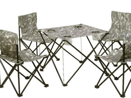 攀能四人休闲折叠桌椅