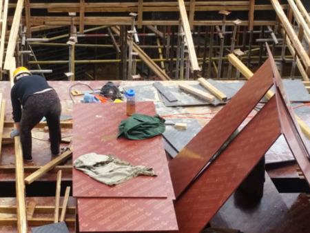 红膜清水小板 地下室顶板