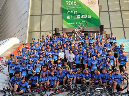 公司員工參加廣東省第十五屆省運會開幕式演出活動
