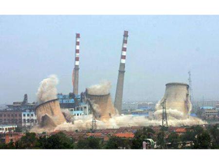 50米砖烟囱定向爆破公司,提供浙江拆除烟囱方案: