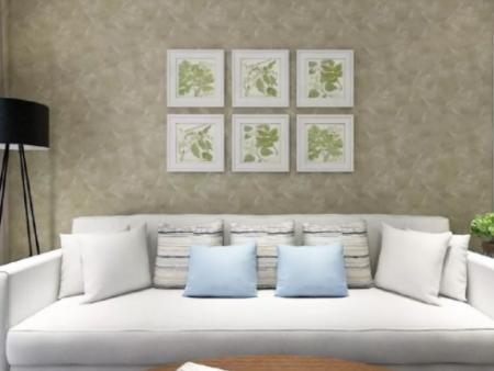 沙发背景艺术漆效果图