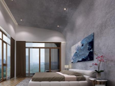 别墅卧室艺术漆效果图