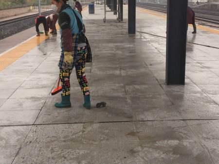 火车站地板清洗案例
