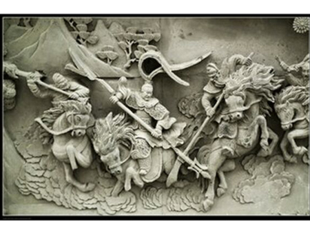 宁阳古建砖瓦厂家-三英战吕布