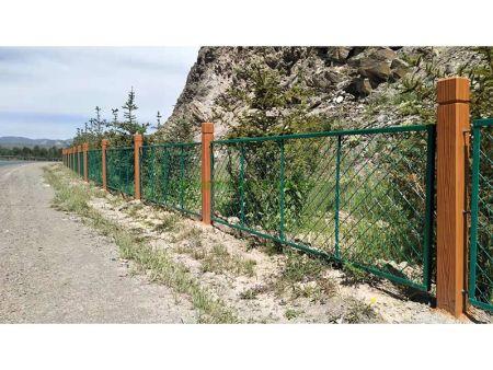 兰州新万博铁艺围栏