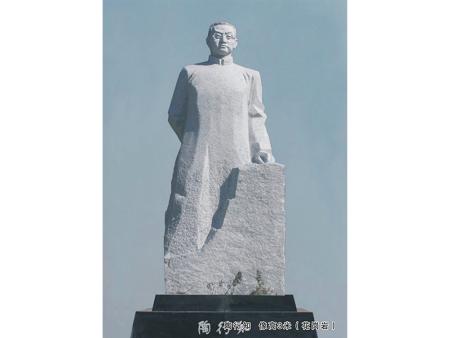 陶行知塑像的毕生平民教育事业
