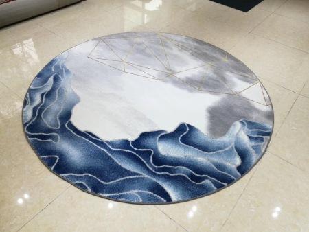 蓝色芳华圆毯,1.6X1.6   2X2   2.4Ⅹ2.4