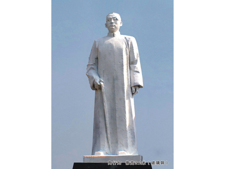 博杰陶行知雕塑讲解为什么传统雕塑作品大多没有颜色?