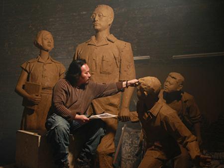 陶行知校园雕塑为您简析园林景观雕塑灯光照明的注意事项