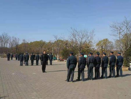 山东坤安保安公司对弥河中队进行一季度培训