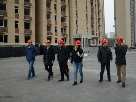 香港上市企业华南城股份集团西安领导对陕西江鼎集团旗下建设公司进行合作考察