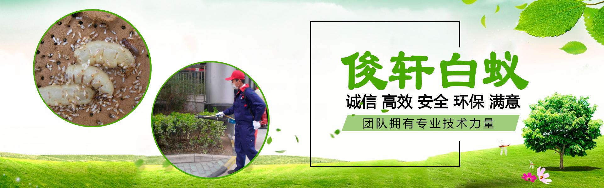 俊轩白蚁 诚信 高效 安全 环保 满意 团队拥有专业技术力量。