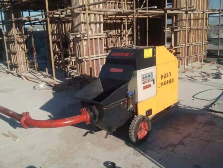 卧式二次构造柱泵施工照片