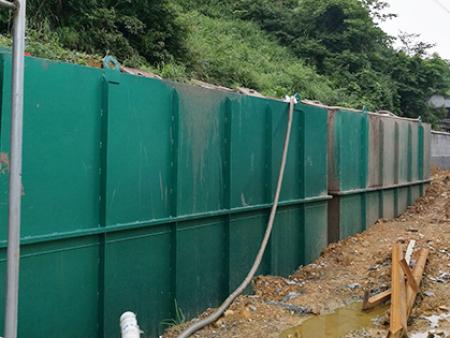 湖北枣阳县某医院污水处理现场