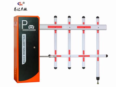 2986mini(橘红)栅栏杆停车场系统采用:蜗轮蜗杆及4连杆,1.5钢板,识别系统用于4路识别,带临时计费等功能视频流判断,无需压地感识别, 精密的防砸车设计。