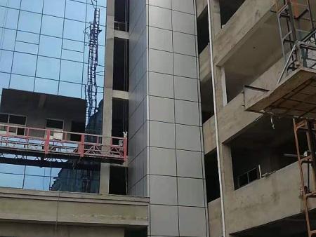 南陽鎮平集英中學電梯井道及玻璃幕墻項目