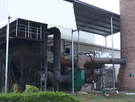 海湾化工锅炉房外景布袋除尘等设备