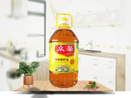 精炼棉籽油5L