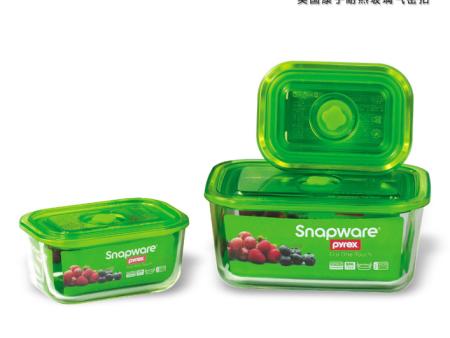SNAPWARE 美国康宁耐热玻璃气密扣 SW1203 (三件装)
