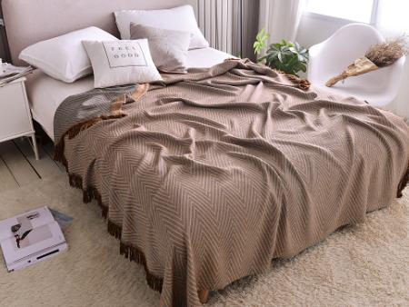 竹纤维多功能流苏毯