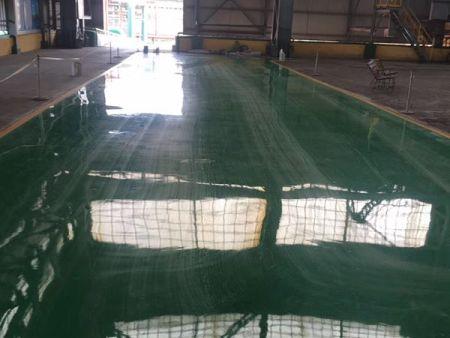 鞍山钢铁集团二#炼钢通道改造环氧树脂自流平