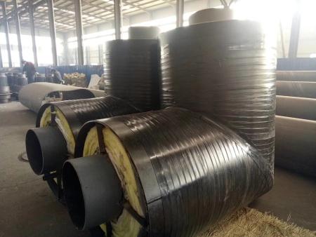 蒸汽用钢套钢保温弯头外3PE防腐