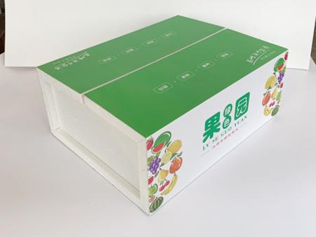 蔬菜、水果、百合彩色泡沫箱