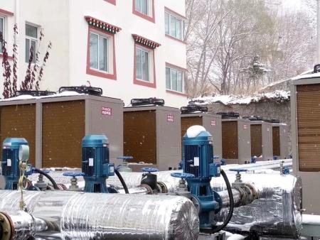 玉树大酒店超低温热泵采暖主机系统(13000m2)