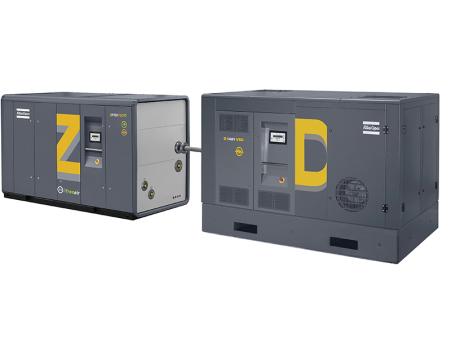 配备高压活塞增压机的ZD(VSD)无油中压螺杆式压缩机