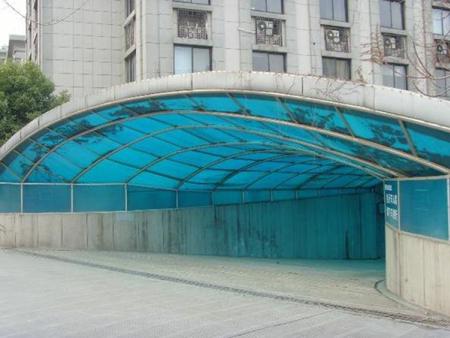 車道入口雨棚