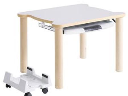 华森葳阿尔卑斯单人电脑桌-暖白