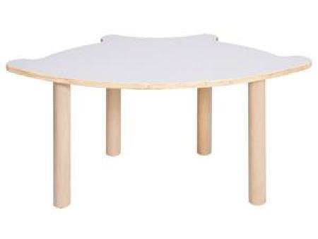 华森葳阿尔卑斯扇形桌-暖白