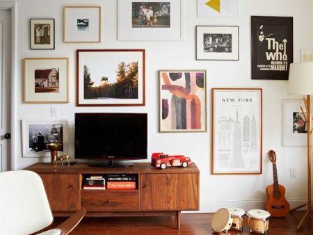藝術漆電視背景墻效果圖