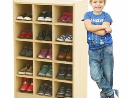 华森葳 海洋主题功能家具-立式15格鞋柜