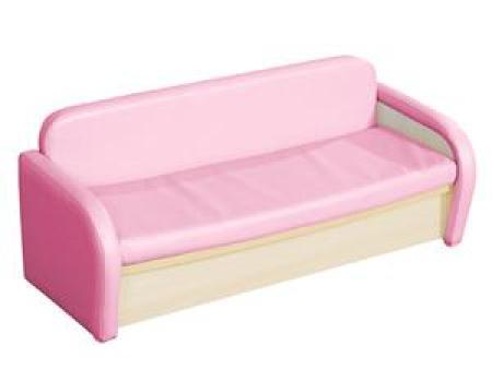 华森葳 淘乐幼儿双人沙发-粉色