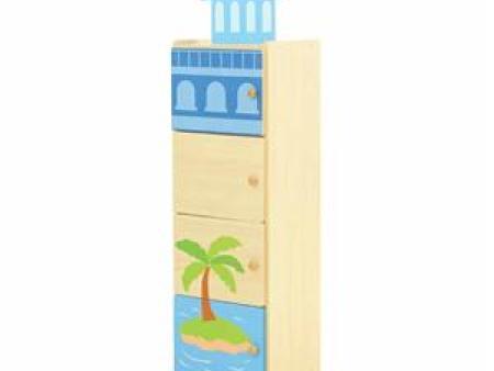 华森葳 海洋主题功能家具-海洋立式4格工作柜