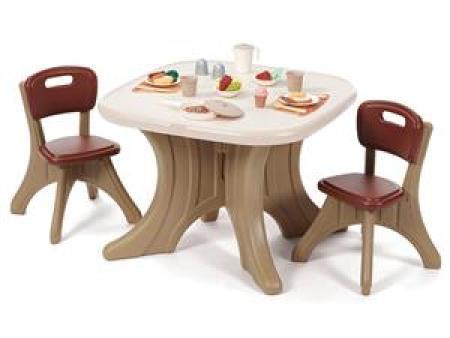 华森葳 海洋主题功能家具-桌椅组合C款(棕色)