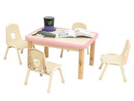 华森葳 淘乐幼儿4人桌-粉色