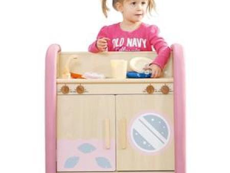 华森葳 淘乐幼儿厨房柜(洗涤台组)-粉色