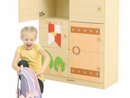 华森葳 城堡主题功能家具-城堡立式6格工作柜