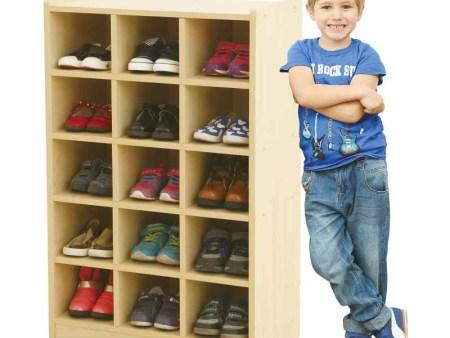 华森葳 城堡主题功能家具-立式15格鞋柜