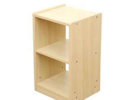 华森葳 万用功能家具-哈佛立式中空双格柜(枫木)