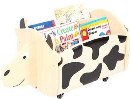 华森葳 动物图书柜 奶牛移动书柜