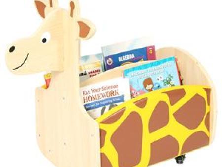 华森葳 动物图书柜 长颈鹿移动书柜