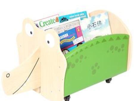 华森葳 动物图书柜 鳄鱼移动书柜