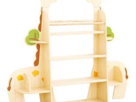 华森葳 交通图书柜 长颈鹿单体靠墙书柜组