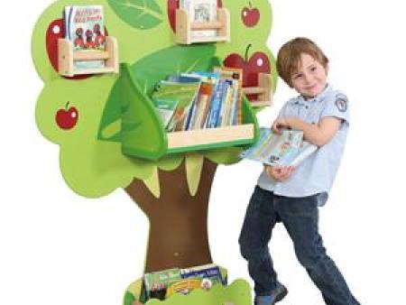 华森葳 综合图书柜 苹果树挂墙书柜
